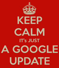 Keep Calm Google Update Graphic