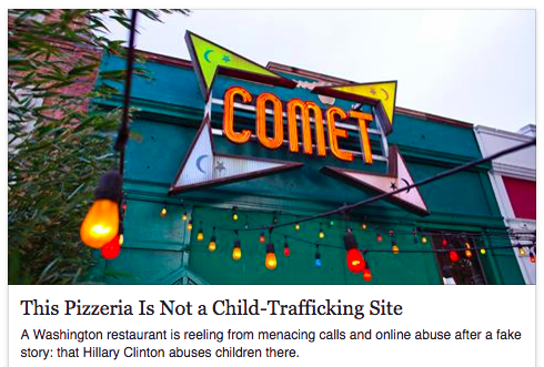 Comet Ping Pong not CTS