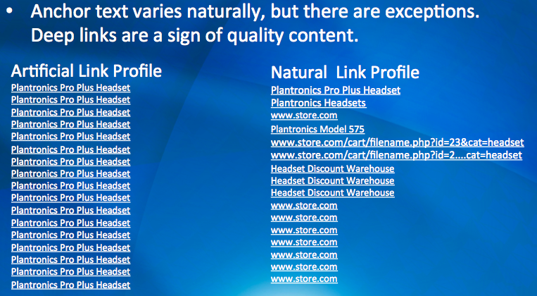 Natural Link Profile