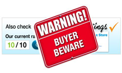 Buyer Beware Reseller Ratings Graphic