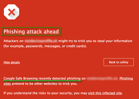 chrome phishing graphic