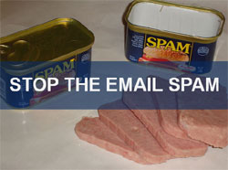 Stop the Email Spam Graphic