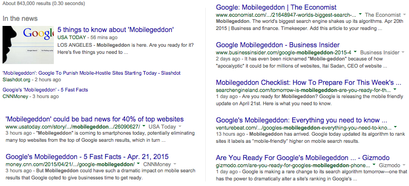 Mobilegeddon Articles